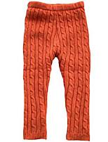Girl's Brown / Orange Leggings Others Winter