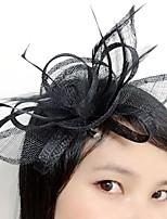 Veren / Vlas / Net Vrouwen Helm Bruiloft / Speciale gelegenheden Fascinators Bruiloft / Speciale gelegenheden 1 Stuk