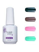 ILuve Gel Nail Polish Set - Pack Of 4 - Long Lasting 3 Weeks Soak Off UV Led Gel Varnish – For Nail Art #4057
