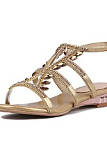 Women's Shoes Cowhide Wedge Heel Wedges / Ankle Strap Sandals Office & Career / Party & Evening / Dress