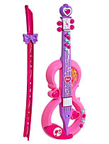 Violin Shape Plastic Pink / Purple Music Toy For Kids
