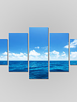 Canvas Set Of 5 Modern Print Seascape Painting On The Wall Home Decor