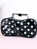 Fashion Patent Leather Portable Cosmetic Retro Dot  Pattern Makeup Makeup Cosmetic Pouch Bag Travel Bag Toiletry Kit