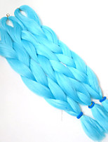 1-12packs / pcs extensões de cabelo trança sintética cor bule tranças alta temperatura tranças 100g