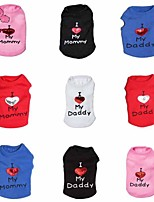 FUN OF PETS® 2016 New Dear Daddy Vest for Dogs Dog Clothes Blue White Black Red Rose Dog Shirts Dog Clothing