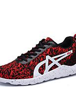 Scarpe da uomo-Sneakers alla moda / Scarpe da ginnastica-Tempo libero / Casual / Sportivo-Tulle-Verde / Rosso / Grigio