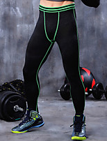 Men's Running Bottoms Fitness/Running Breathable/Quick Dry/Limits Bacteria/Sweat-wicking/Compression Green/Blue