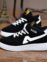 Men's Shoes Casual Leatherette Fashion Sneakers Black / Gray