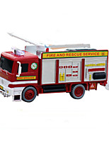 Fire Engine Blow Bubbles Plastic Red  Music Toy For Kids