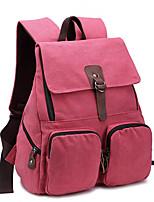 Canvas Backpack Large Middle School Students Bag Travel Bag