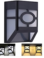 Solar Wall Lamps 2 LED Outdoor Waterproof Garden Pathway Stairs Solar Powered Lamp Light