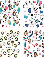 6Pcs/set Monkey Series Nail Sticker Decals Transfer Manicure Tips Nail Art Decorations