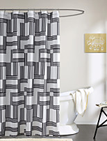 Modern Simple Black Stripe Shower Curtain 71x72inch,71x79inch