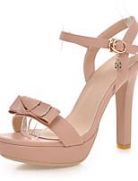 Women's Shoes Stiletto Heels/Platform/Open Toe Sandals Party & Evening/Dress Black/Pink/Almond
