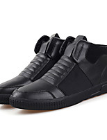 Men's Shoes Outdoor / Office & Career / Casual Leather / PVC / Leatherette Oxfords Black / Blue