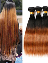 3PCS 12-24 inch Brazilian Straight Hair Ombre #1B30 Color Human Virgin Hair