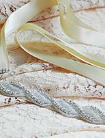 Женские ленты Кушак Сатин Свадьба / Вечеринка / ужин / На каждый день Бусины / Аппликации / Стразы