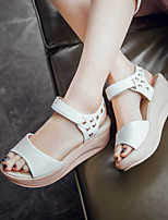 Women's Shoes Platform Platform / Creepers / Open Toe Sandals Outdoor / Dress / Casual Pink / White / Almond