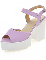 Women's Shoes Leatherette Chunky Heel Wedges Sandals Wedding / Party & Evening / Dress / Casual Blue / Pink