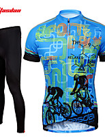 Tasdan Cycling Clothing Cycling Wear Men's Short Sleeve Jerseys Suit Custom Cycling Jerseys & Tights  Pants Sets Gel Pad
