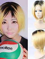Haikyuu Kozumekenma Short Straight Golden Color Anime Cosplay Wig