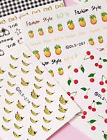 5PCS lovely Fruit Pattern Nail Stickers