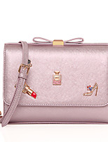 Women PU Baguette Shoulder Bag / Satchel / Clutch / Evening Bag / Coin Purse-Pink / Black