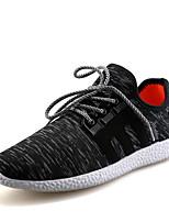 Zapatos de Hombre-Sneakers a la Moda-Casual-Semicuero-Negro / Gris