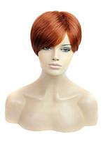 lunghezza corta capelli lisci tessere europeo parrucca sintetica dei capelli di colore marrone