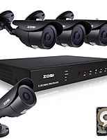 ZOSI@8CH 960H HDMI DVR 1TB HDD 4PCS 1000TVL Waterproof Outdoor CCTV Home Security Camera System