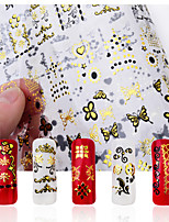 -Finger-3D Nails Nagelaufkleber / Nail Schmuck-Metall-1Stück -18*12*0.1cm