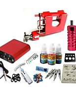 basekey tattoo kit jh553 1 machine met stroomaansluiting grips 3x10 ml inkt