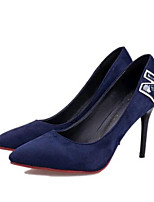Women's Shoes Fleece Stiletto Heel Heels Heels Party & Evening Black / Blue / Burgundy