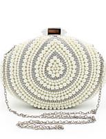 L.WEST® Women's Handmade High-grade Oval Pearl Diamonds Party/Evening Bag