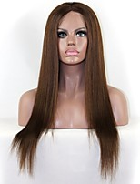 Hot Selling Brazilian Hair Virgin Human Hair Medium Brown Straight Lace Front Wig/Full Lace Wig