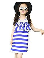 Girl's Blue Dress Rayon Summer