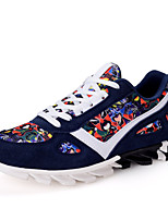 Men's Shoes Outdoor / Athletic Tulle Fashion Sneakers / Athletic Shoes Black / Blue / Gray