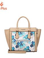 M.Plus® Women's Fashion Artwork Print PU Leather Messenger Shoulder Bag/Tote