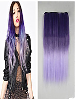 Hot Sale High Temperature Resistance Mixed Color 26 Inch Long Straight 5 Clip Hairpiece Extension