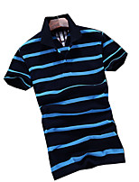 The 2016 Summer men's POLO shirt fashion fashionable striped short sleeved young business men tide half sleeve