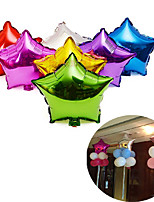 10pcs Aluminum foil balloon Five-Pointed Star inflatables balloons 10 inch Toy Wedding(Random Color)