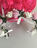 Capacete Flores / Grinaldas Casamento / Ocasião Especial Pérola / Strass / Liga / Acrilíco Mulheres Casamento / Ocasião Especial 1 Peça