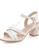 Women's Shoes Chunky Heel Open Toe Sandals Dress Black / Blue / Pink / White