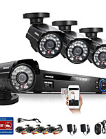 ANNKE® 8CH CCTV System 960H DVR 4PCS 800TVL IR Weatherproof Outdoor CCTV Camera Home Security System Surveillance Kits