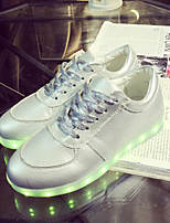 Women's Shoes Leatherette Flat Heel Round Toe Fashion Sneakers Outdoor / Casual / Athletic Silver