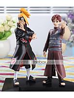 2PCS Naruto Deidara 16CM Gaara PVC Anime Action Figures Doll Toys