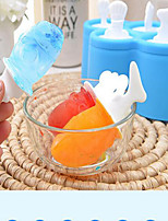 3 pcs New Frozen Clear Ice Cream Mould Popsicle Maker Fish Kitchen Mold DIY