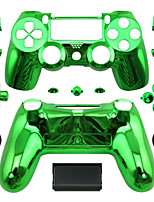 Replacement Controller Case for PS4 Controller PS4 Case Plating Green/Blue