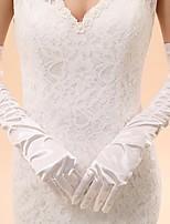 Opera Length Fingertips Glove Elastic Satin Bridal Gloves / Party/ Evening Gloves