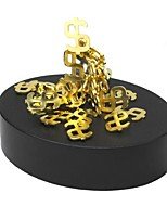Magnetic Force Interest Puzzle Money Symbol Toys Gold
